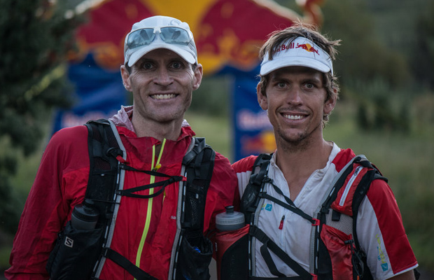 Ryan Sandes and Ryno Griesel - Finish line