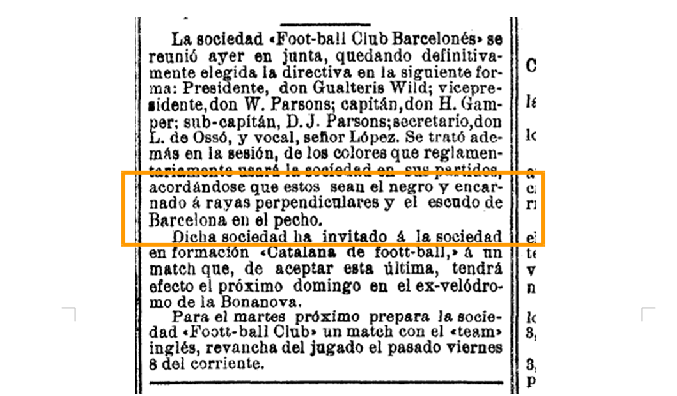 'La Vanguardia' también recogía la información de las rayas perpendiculares en su edición del 15/12/1899.