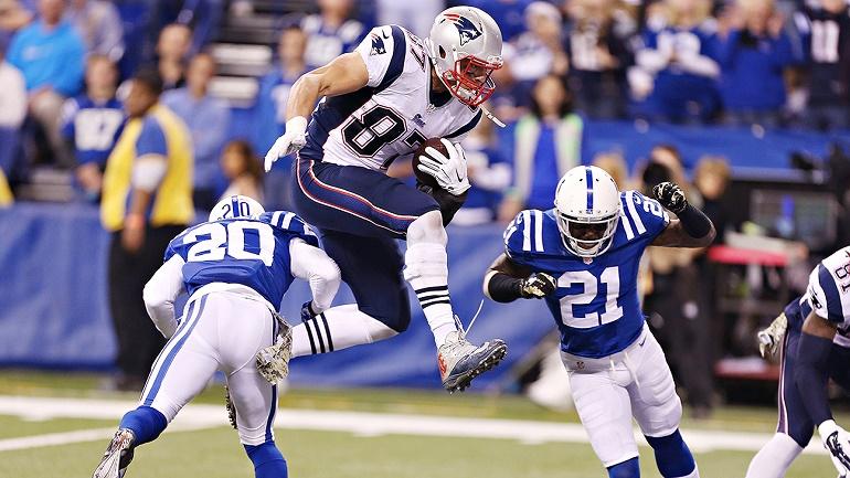 Rob Gronkowski hizo lo que quiso con la defensa de los Colts en noviembre. Si vuelve a tener la misma clase de partido, significará que los Patriots serán campeones de la AFC.