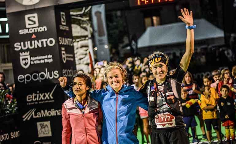 Podio femenino Ultra Pirineu 2015