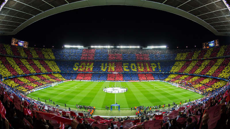 Camp Nou Champions League barça